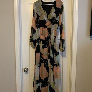 Lulu's floral maxi dress